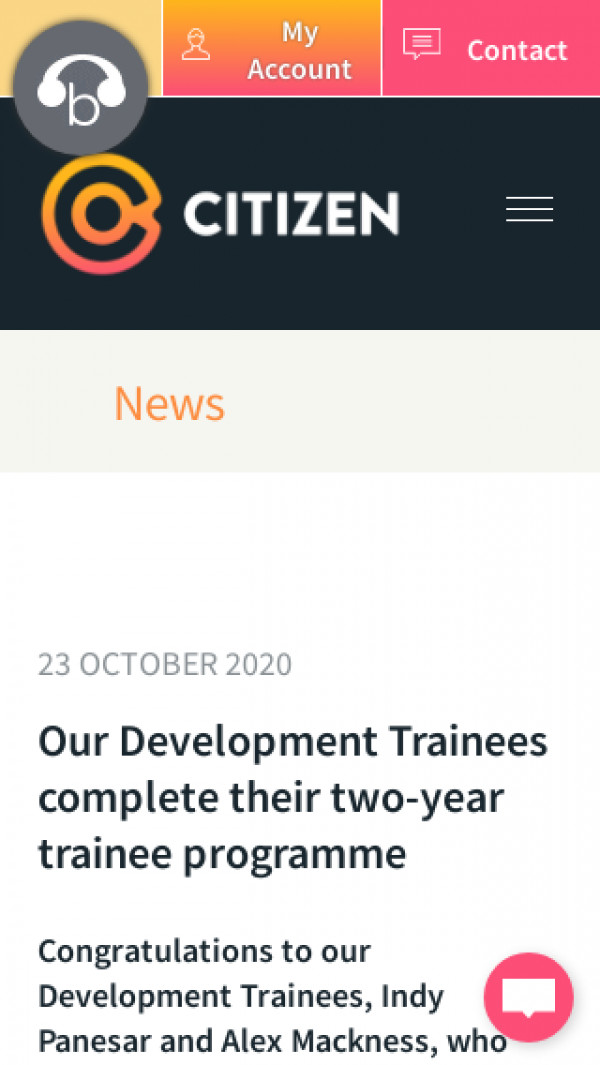 Screenshot of Citizen | Our Development Trainees complete their two-year trainee programme