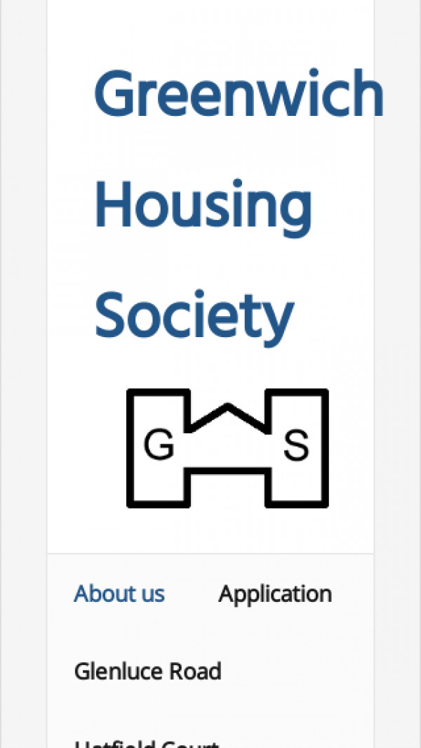 Mobile screenshot of Greenwich Housing Society Limited website