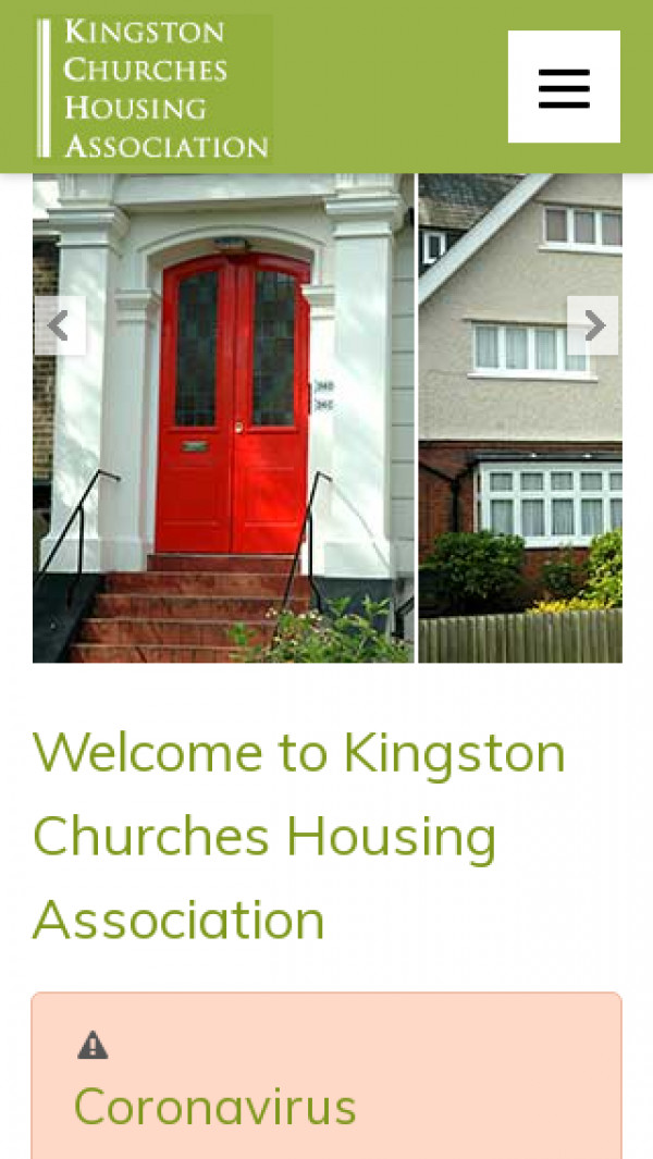 Mobile screenshot of Kingston upon Thames Churches Housing Association Limited website