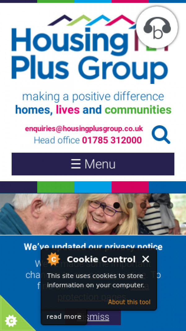 Mobile screenshot of The Housing Plus Group Limited website