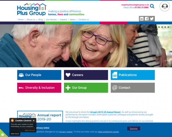 Desktop screenshot of The Housing Plus Group Limited website