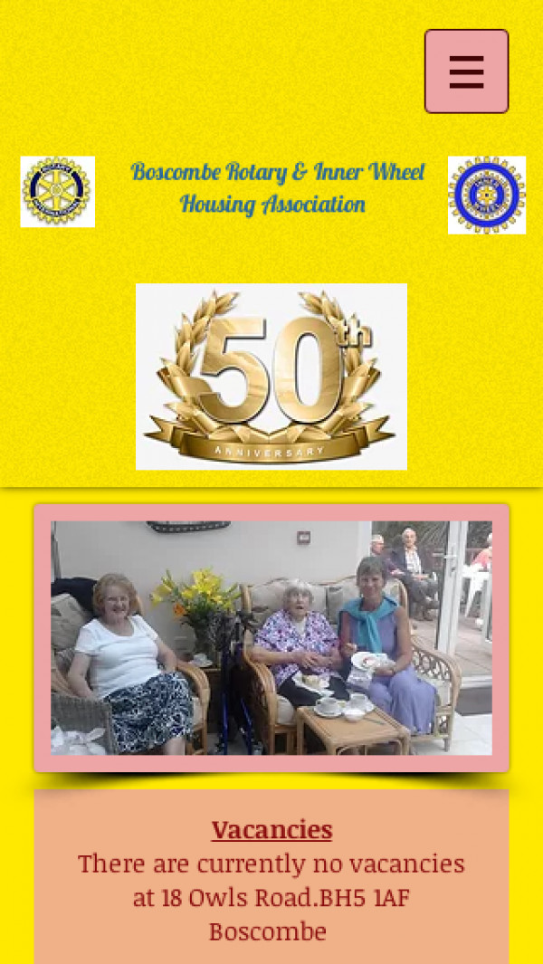 Mobile screenshot of Boscombe Rotary and Inner Wheel Housing Association Limited website