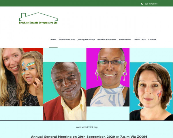 Desktop screenshot of Brockley Tenants Co-operative Limited website