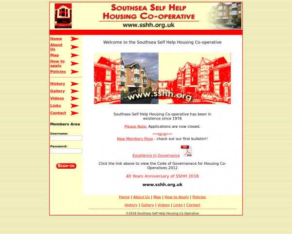 Desktop screenshot of Southern Housing Group Limited website