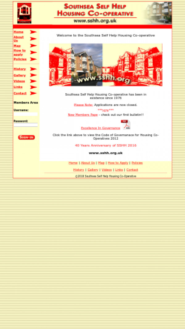 Mobile screenshot of Southern Housing Group Limited website