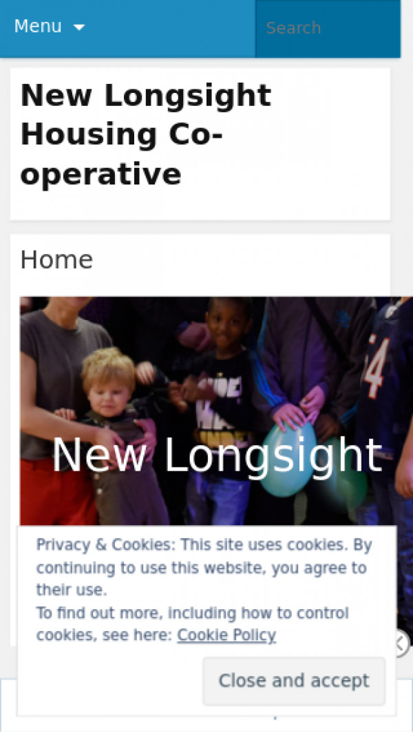 Mobile screenshot of New Longsight Housing Co-operative Limited website