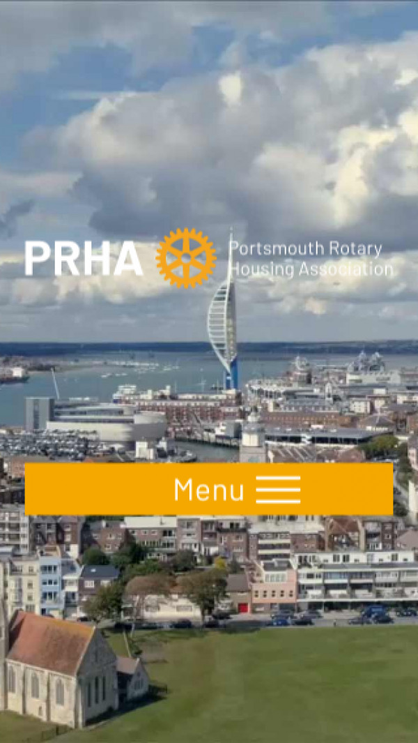 Mobile screenshot of Portsmouth Rotary Housing Association Limited website