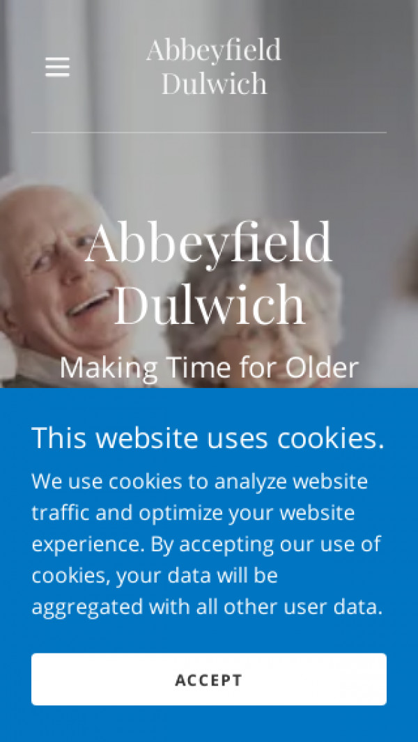 Mobile screenshot of The Abbeyfield Dulwich Society Limited website