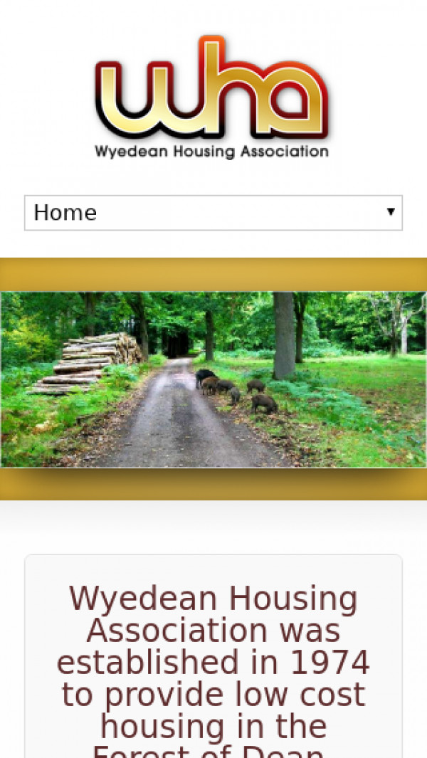 Mobile screenshot of Wyedean Housing Association Limited website
