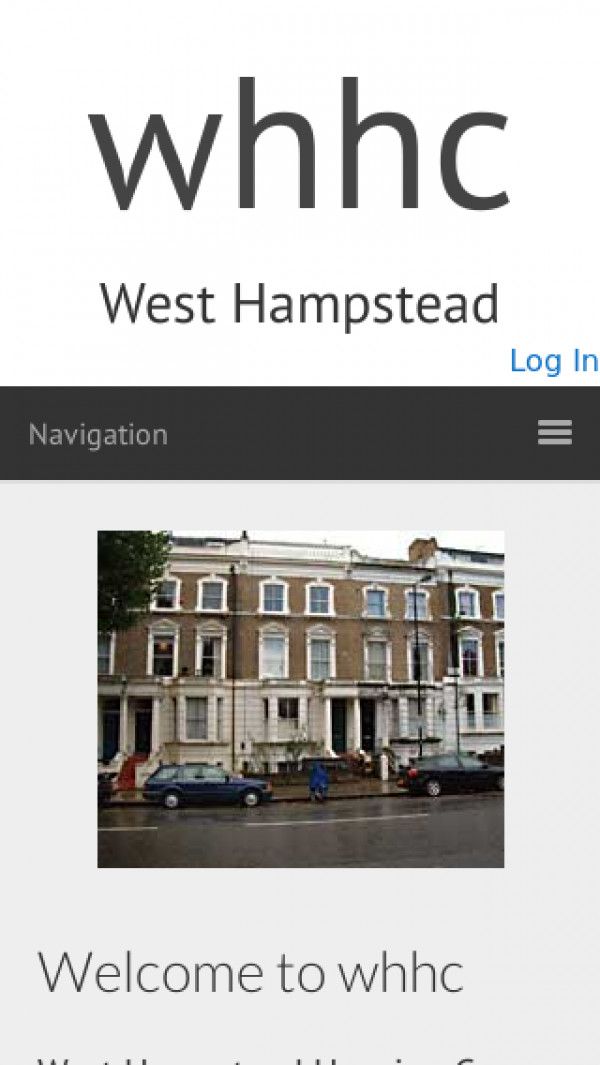 Mobile screenshot of West Hampstead Housing Co-operative Limited website