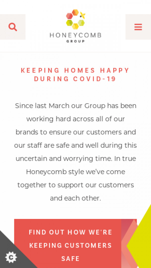 Mobile screenshot of Honeycomb Group Limited website