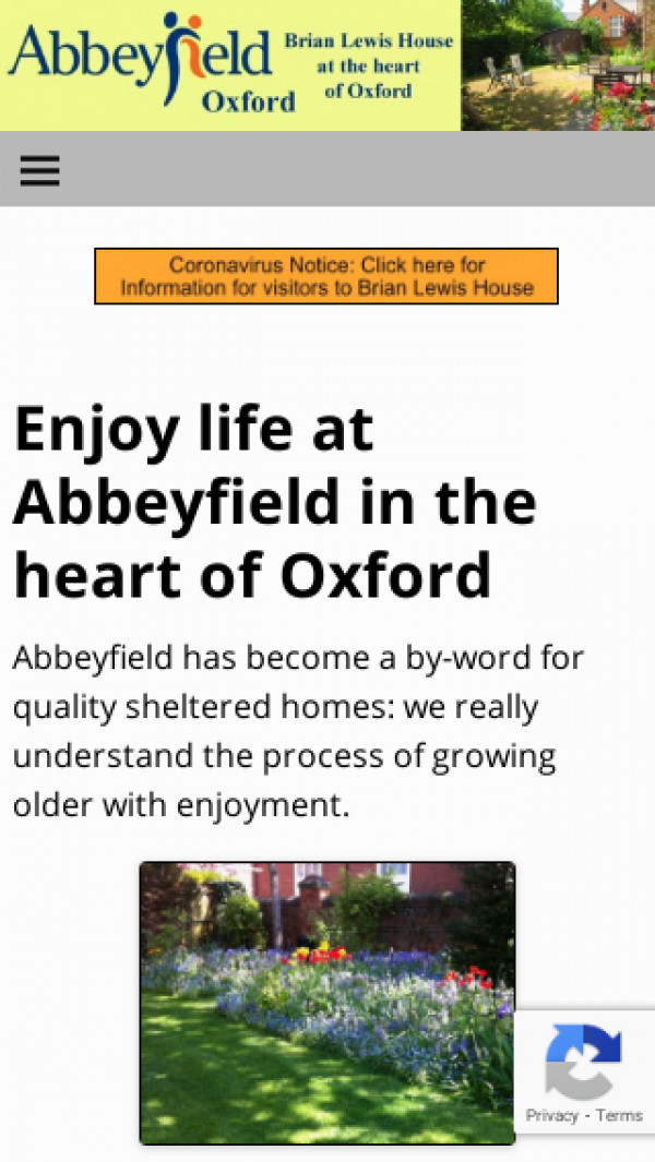 Mobile screenshot of The Abbeyfield (Oxford) Society Limited website