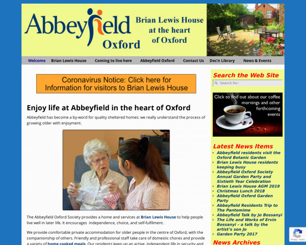 Desktop screenshot of The Abbeyfield (Oxford) Society Limited website