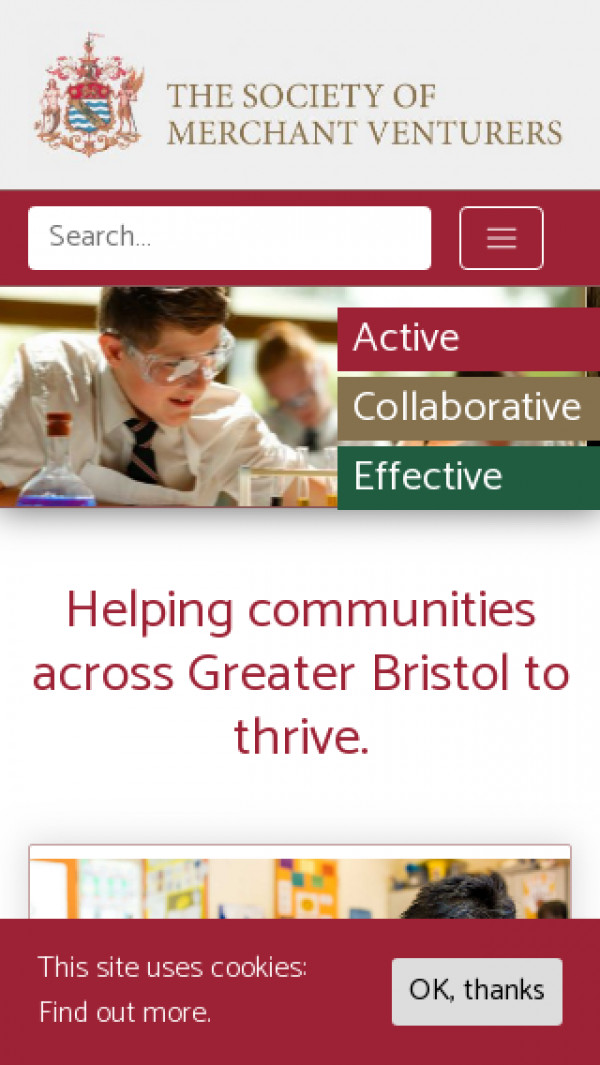 Mobile screenshot of The Society of Merchant Venturers' Almshouse Charity website