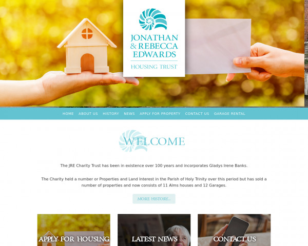 Desktop screenshot of Charity Jonathan & Rebecca Edwards website