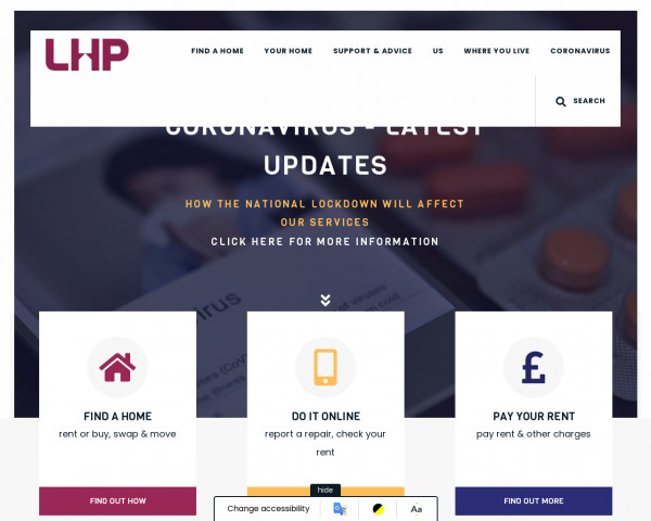Screenshot of Welcome to Lincolnshire Housing Partnership | Lincolnshire Housing Partnership
