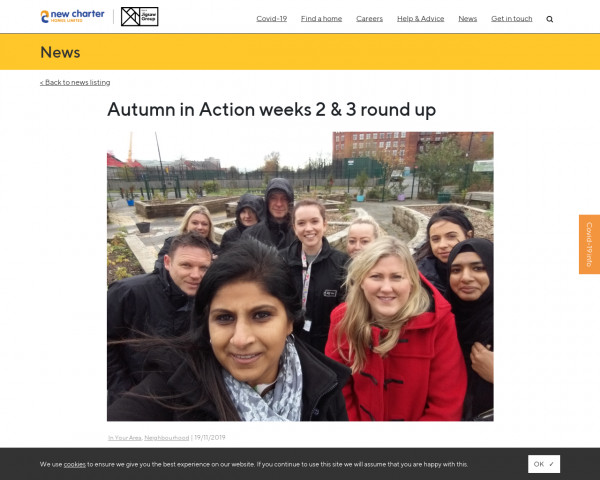 Screenshot of Autumn in Action weeks 2 & 3 round up - New Charter Homes