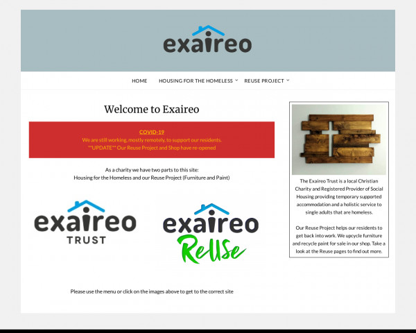 Desktop screenshot of The Exaireo Trust Ltd website