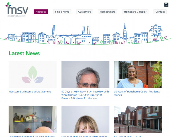 Screenshot of News | About us | Mosscare St Vincent's