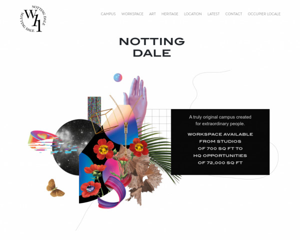 Desktop screenshot of Notting Dale Housing Co-operative Limited website