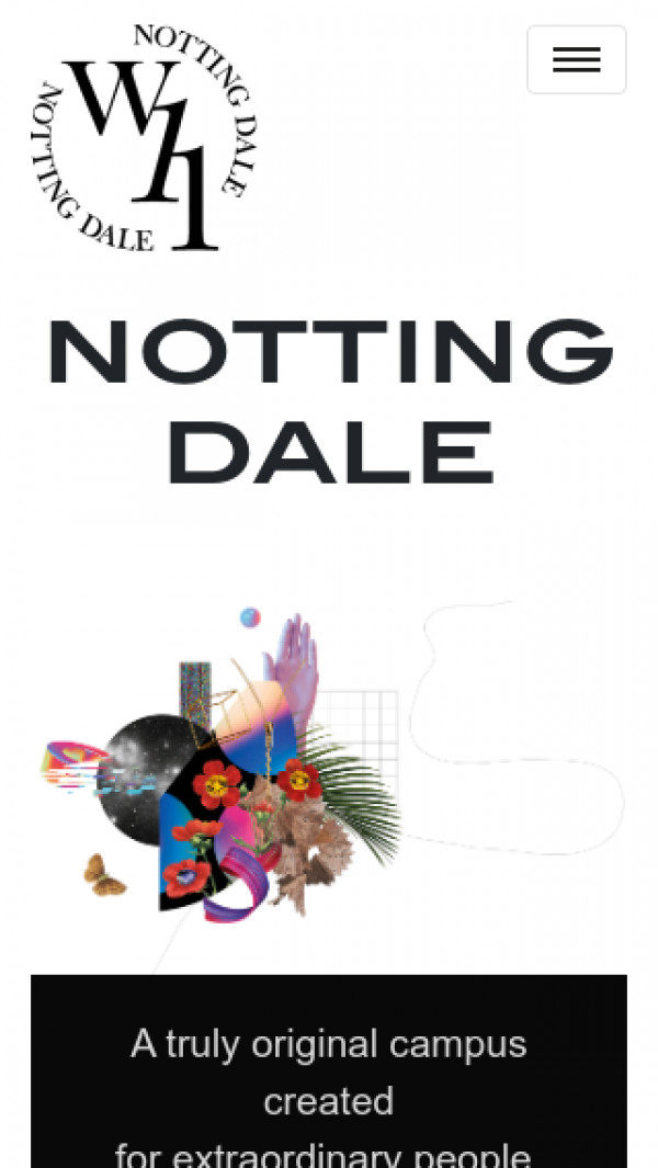 Mobile screenshot of Notting Dale Housing Co-operative Limited website