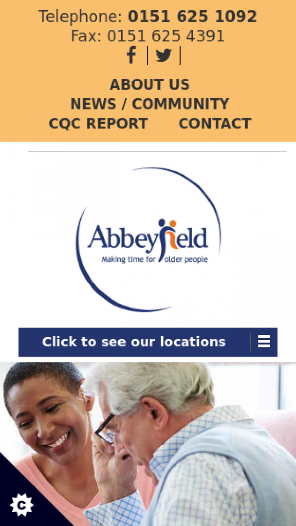 Mobile screenshot of The Abbeyfield Hoylake and West Kirby Society Ltd website