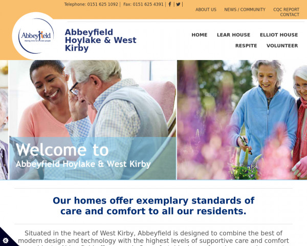 Screenshot of Care Home Wirral | Abbeyfield Hoylake and West Kirkby