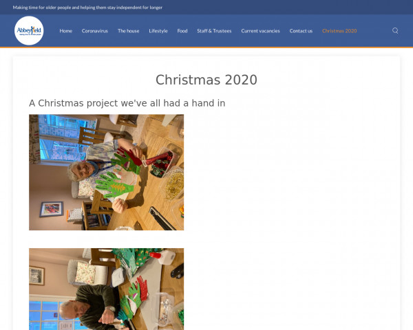 Screenshot of Christmas 2020 - Abbeyfield Ripon & District Society Ltd