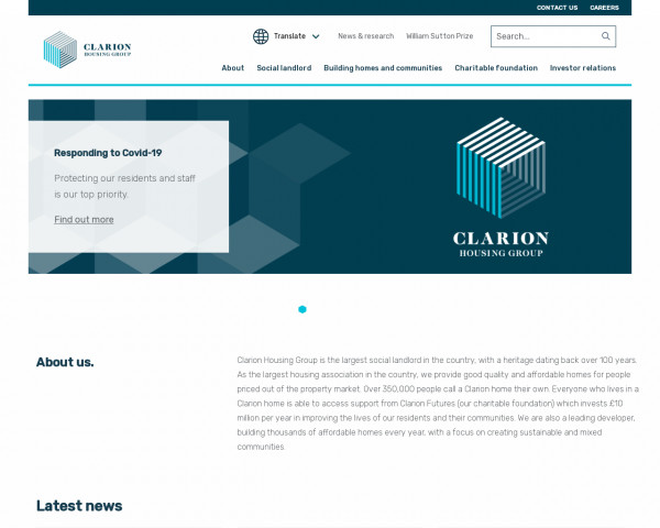 Desktop screenshot of Clarion Housing Association Limited website