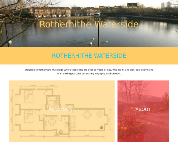 Screenshot of Rotherhithe Waterside | Home Page | Accomodation | Studios with meals included | 2 bed apartments