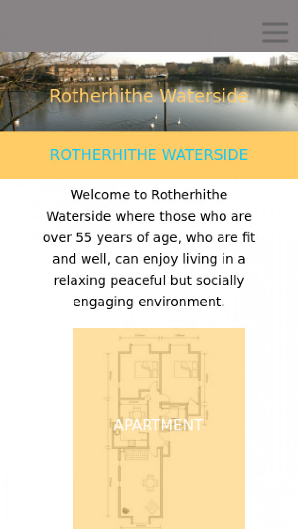 Mobile screenshot of Rotherhithe Waterside Limited website