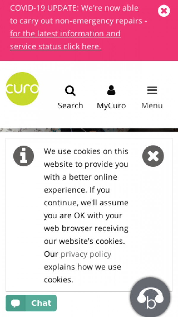 Mobile screenshot of Curo Group (Albion) Limited website