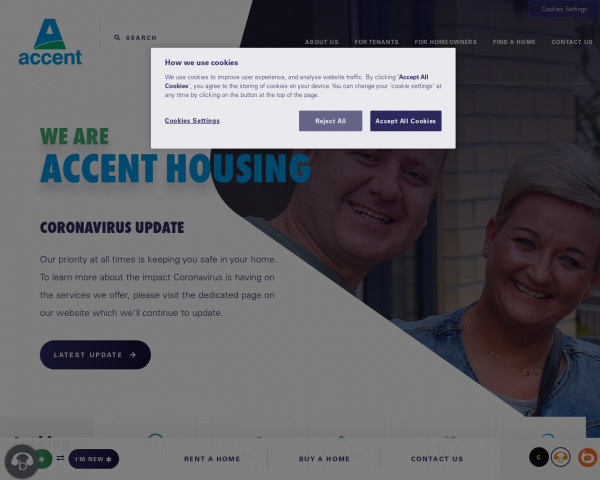 Screenshot of We are Accent Housing | Accent Group