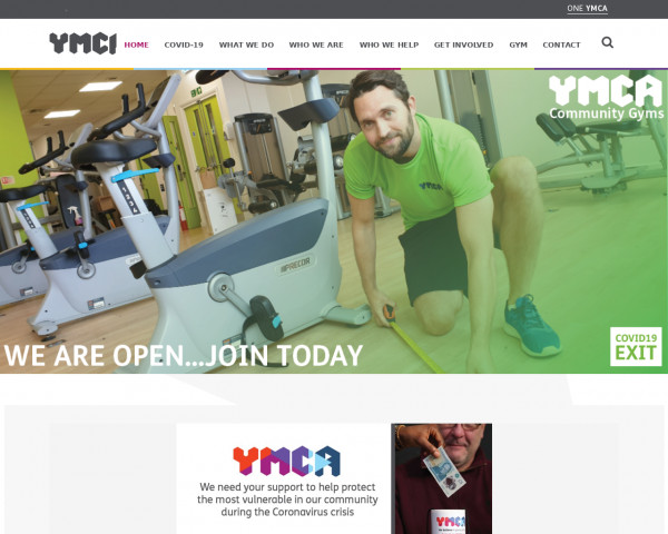 Desktop screenshot of One YMCA website
