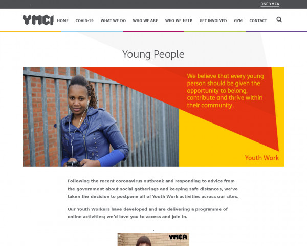Screenshot of Young People - One YMCA