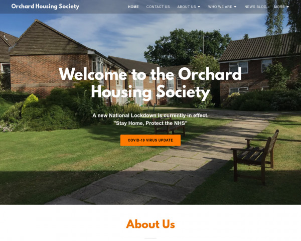 Desktop screenshot of Orchard Housing Society Limited website