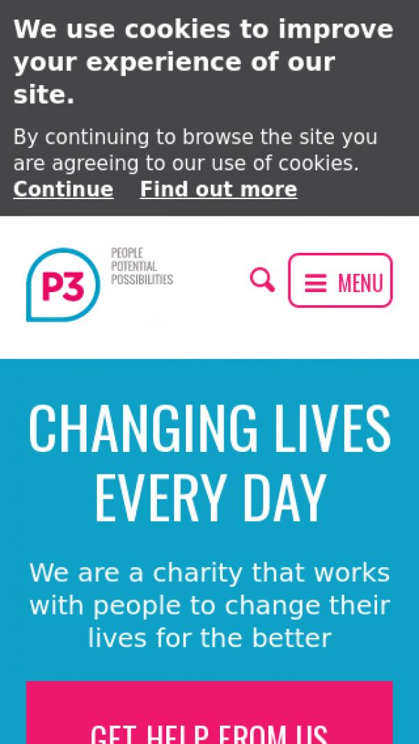Mobile screenshot of P3 Housing Limited website