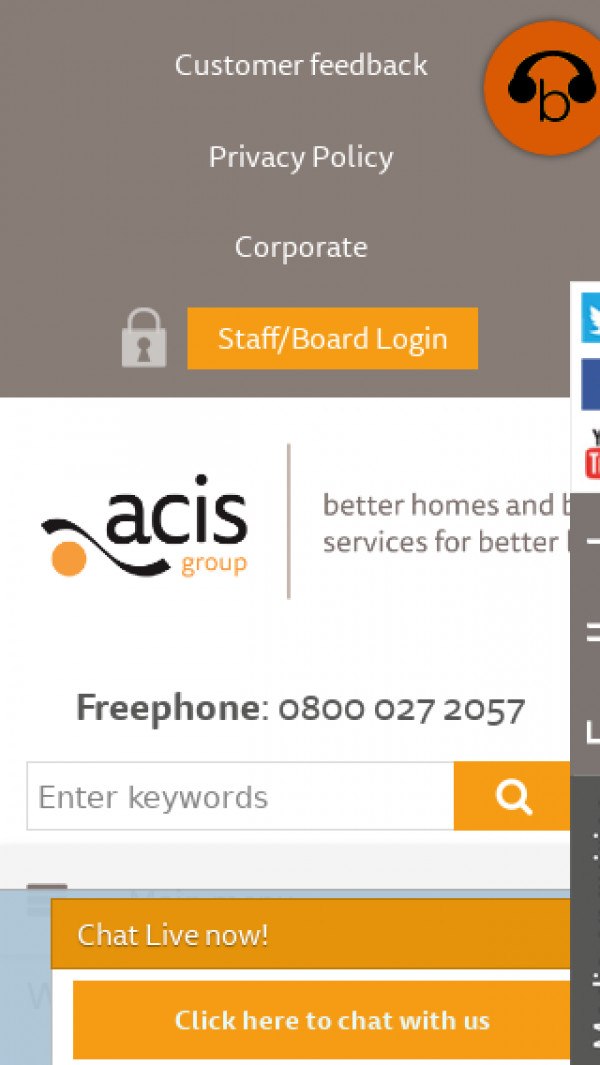 Mobile screenshot of Acis Group Limited website