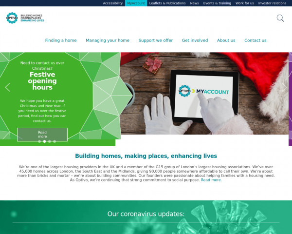 Desktop screenshot of Crystal Palace Housing Association Limited website