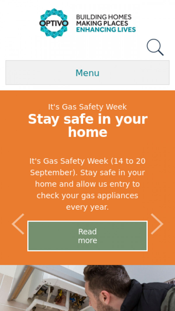 Mobile screenshot of Crystal Palace Housing Association Limited website