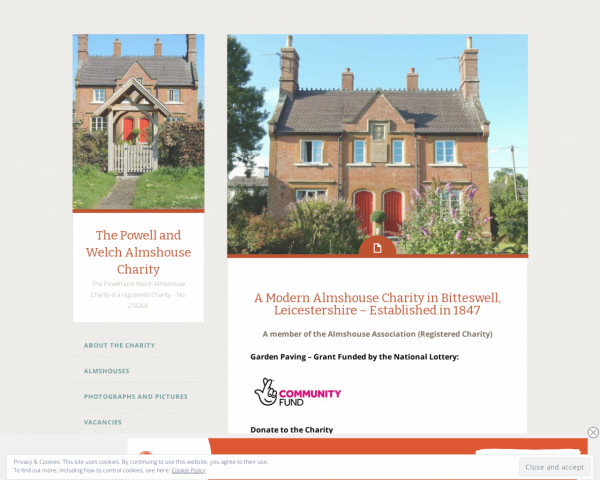 Screenshot of The Powell and Welch Almshouse Charity | The Powell and Welch Almshouse Charity is a registered Charity – No. 218268.