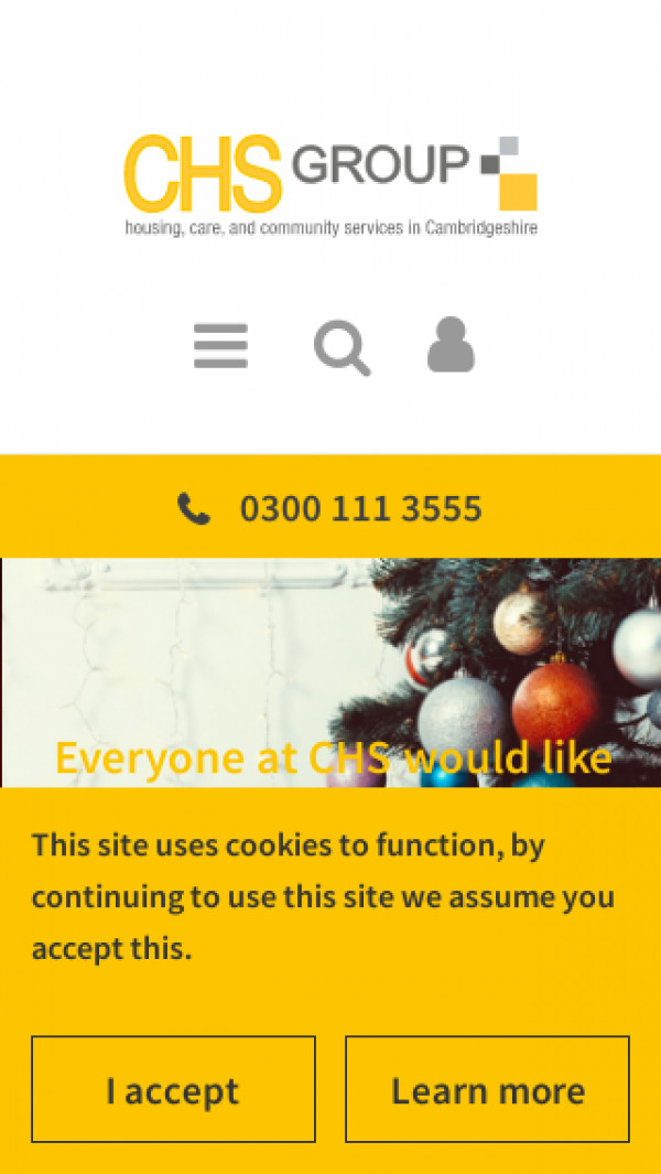 Mobile screenshot of The Cambridge Housing Society Limited website