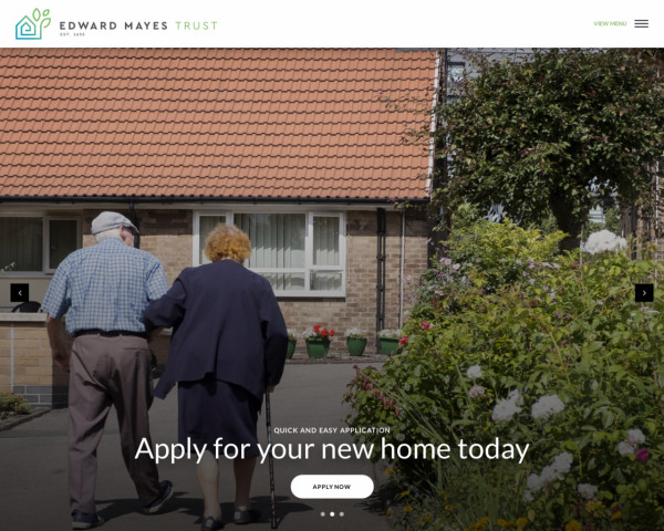 Screenshot of Home - The Edward Mayes Trust