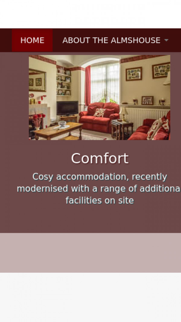 Mobile screenshot of The Berrow Cottage Homes website