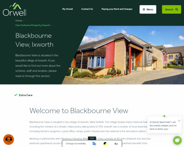 Screenshot of Blackbourne View, Ixworth | Orwell Housing