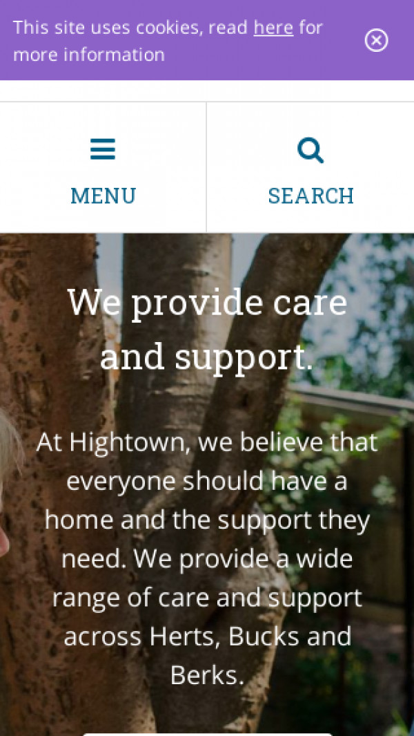 Mobile screenshot of Hightown Housing Association Limited website