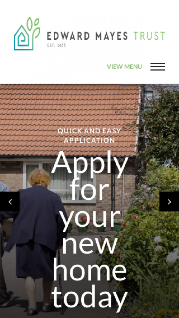 Mobile screenshot of The Edward Mayes Trust website