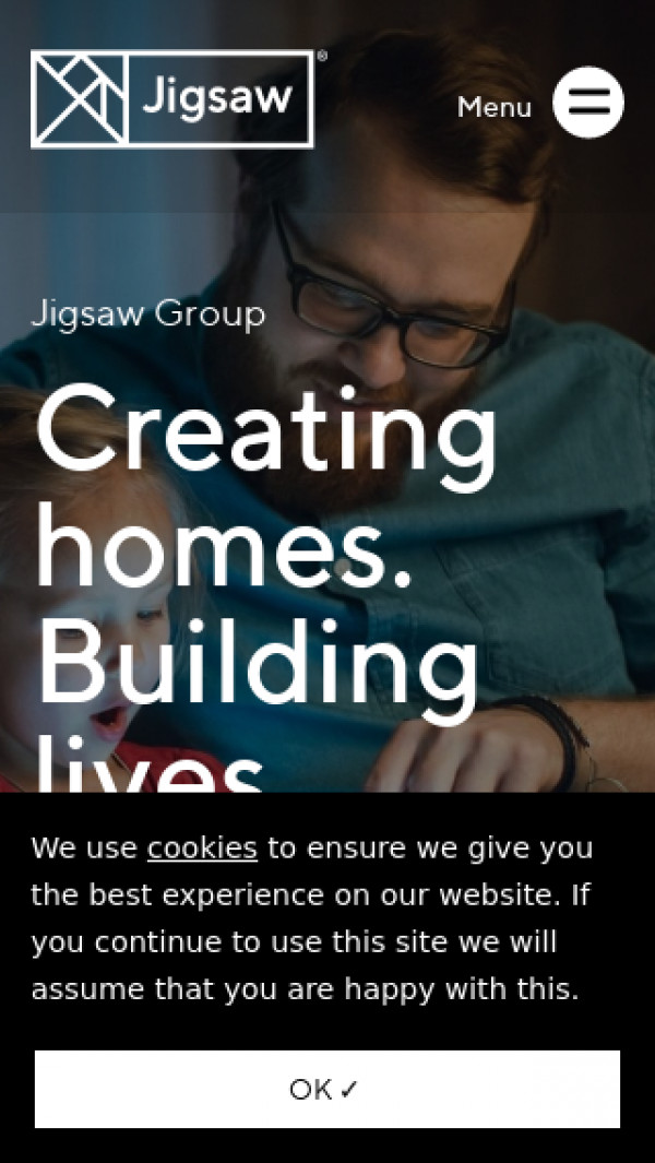 Mobile screenshot of Jigsaw Homes Group Limited website