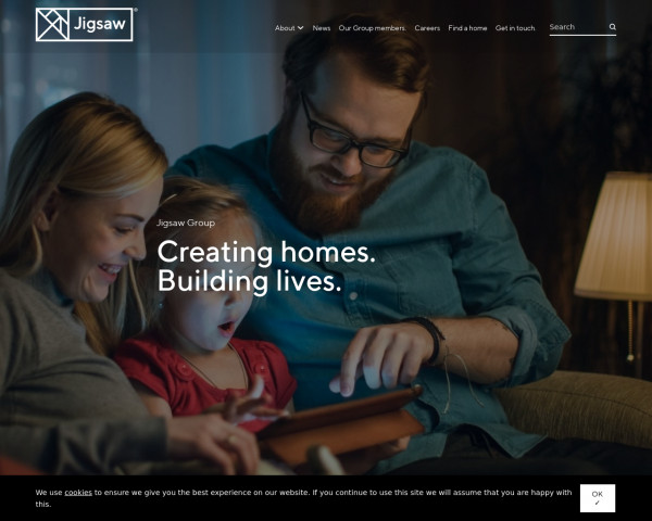 Desktop screenshot of Jigsaw Homes Group Limited website