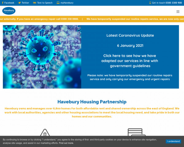Screenshot of Havebury Housing Partnership | Havebury Housing